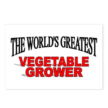 """""""The World's Greatest Vegetable Grower"""" Postcards"""