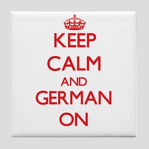 Keep Calm and German ON Tile Coaster