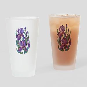 Purple Iris Drinking Glass