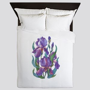 Purple Iris Queen Duvet