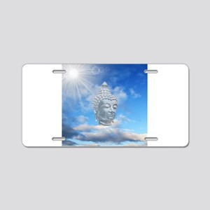 buddha in sky Aluminum License Plate