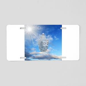 buddha in sky Aluminum License Plate