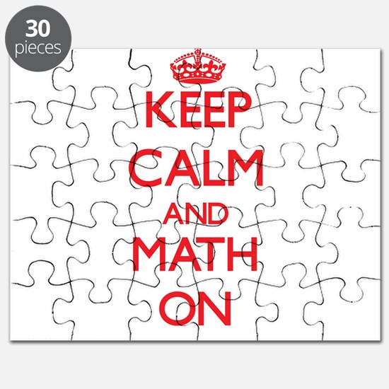 Keep Calm and Math ON Puzzle