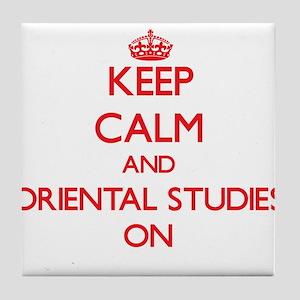 Keep Calm and Oriental Studies ON Tile Coaster