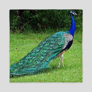 Velvet Blue Peacock Queen Duvet