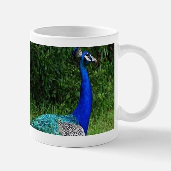 Velvet Blue Peacock Mugs