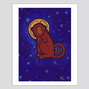 Saint Space Monkey Small Poster