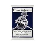 Soldier On God's Side Rectangle Magnet (10 pack)