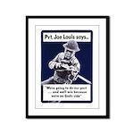 Soldier On God's Side Framed Panel Print