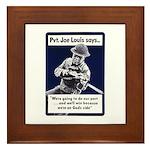 Soldier On God's Side Framed Tile