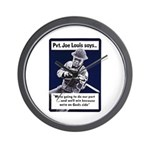 Soldier On God's Side Wall Clock