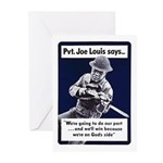Soldier On God's Side Greeting Cards (Pk of 20)