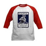 Soldier On God's Side (Front) Kids Baseball Jersey