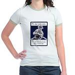 Soldier On God's Side (Front) Jr. Ringer T-Shirt