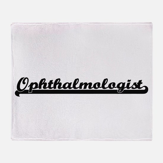 Ophthalmologist Artistic Job Design Throw Blanket