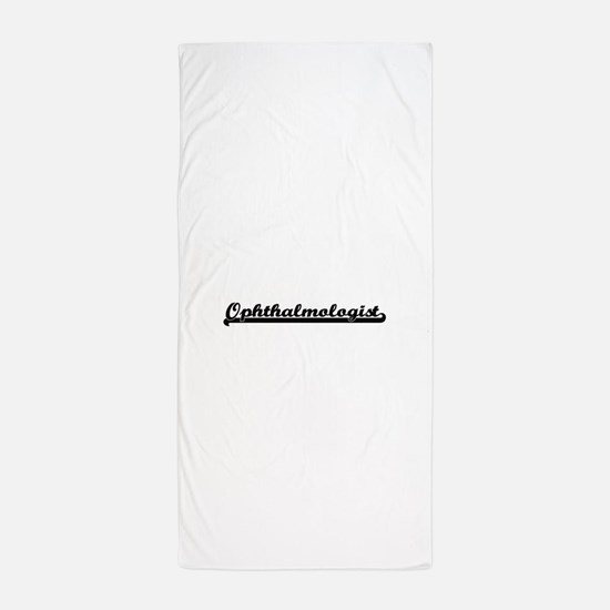 Ophthalmologist Artistic Job Design Beach Towel