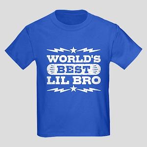 World's Best Lil Bro Kids Dark T-Shirt