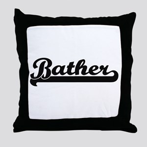 Bather Artistic Job Design Throw Pillow