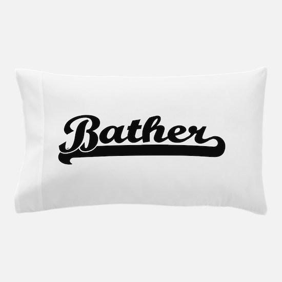 Bather Artistic Job Design Pillow Case