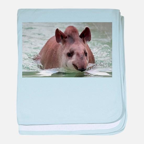 Tapir 002 baby blanket