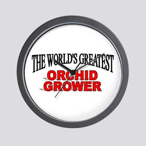 """""""The World's Greatest Orchid Grower"""" Wall Clock"""