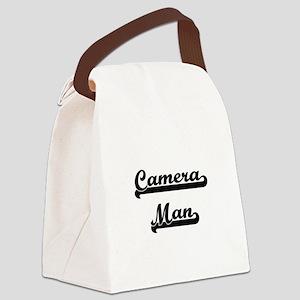 Camera Man Artistic Job Design Canvas Lunch Bag
