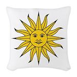 Sun of May Woven Throw Pillow