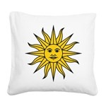 Sun of May Square Canvas Pillow
