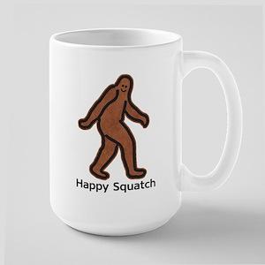 Happy Squatch Large Mug