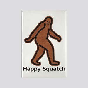 Happy Squatch Rectangle Magnet