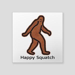 Happy Squatch Sticker