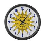 Sun of May Large Wall Clock