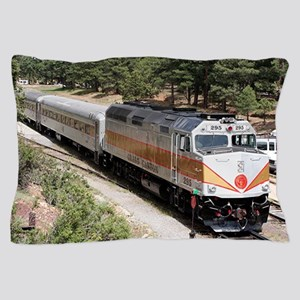 Railway Locomotive, Grand Canyon, Ariz Pillow Case