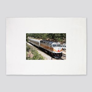 Railway Locomotive, Grand Canyon, A 5'x7'Area Rug