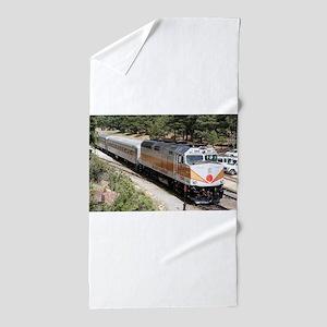 Railway Locomotive, Grand Canyon, Ariz Beach Towel
