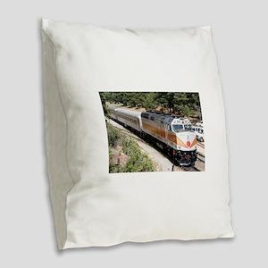 Railway Locomotive, Grand Cany Burlap Throw Pillow