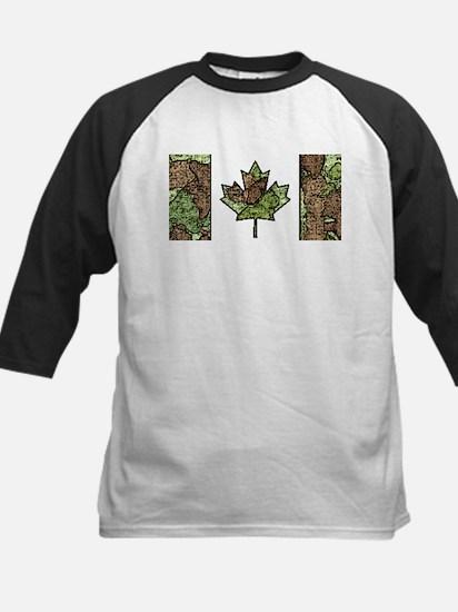 Canadian Flag Camo Green Woodland Baseball Jersey