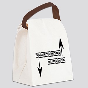 Smartphone and Dumbass 2 Canvas Lunch Bag