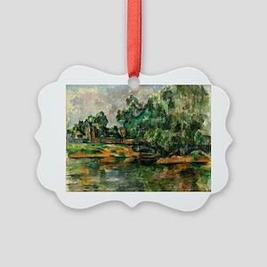 Cezanne - Riverbank Picture Ornament