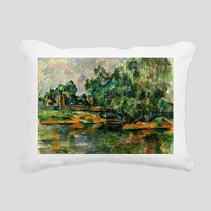 Cezanne - Riverbank Rectangular Canvas Pillow