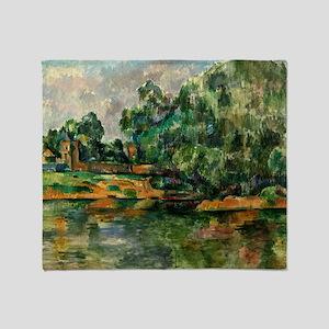 Cezanne - Riverbank Throw Blanket