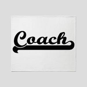 Coach Artistic Job Design Throw Blanket