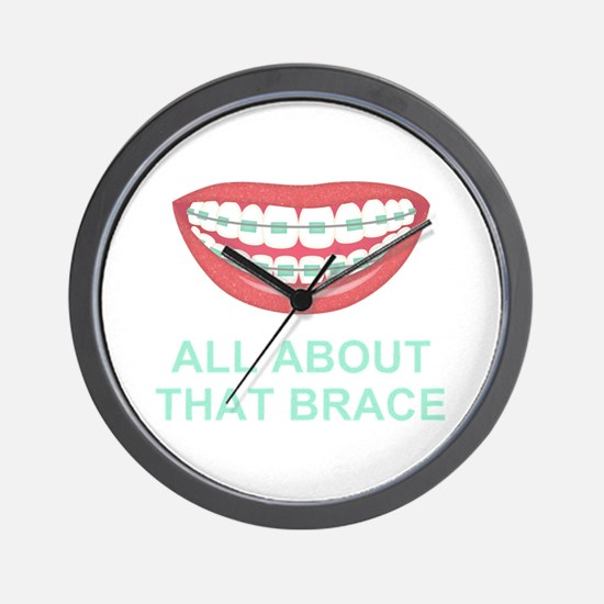 Funny All About That Brace Parody Wall Clock