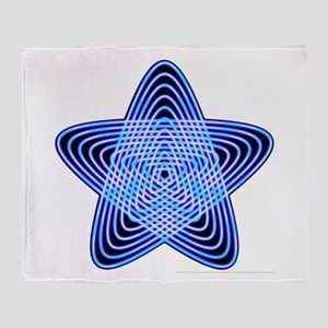 Blue Star Throw Blanket