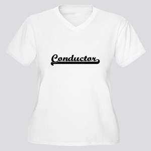 Conductor Artistic Job Design Plus Size T-Shirt