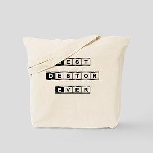 Best Debtor Tote Bag