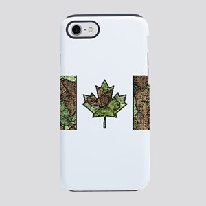 Canadian Flag Camo Green Woo iPhone 8/7 Tough Case