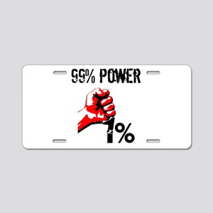 99% Power Occupy Aluminum License Plate
