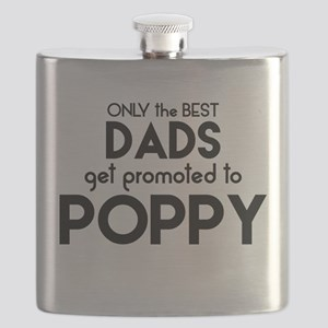 BEST DADS GET PROMOTED TO POPPY Flask