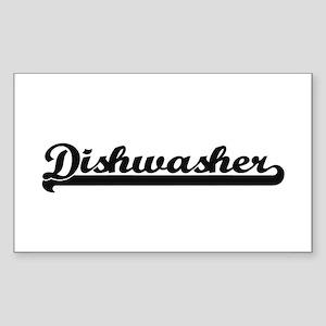Dishwasher Artistic Job Design Sticker